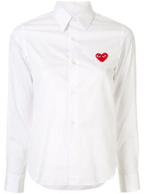 Хлопковая белая рубашка с воротником на пуговицах Comme Des GarÇons Play
