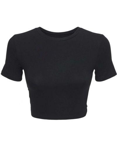 Czarna t-shirt Adam Selman Sport