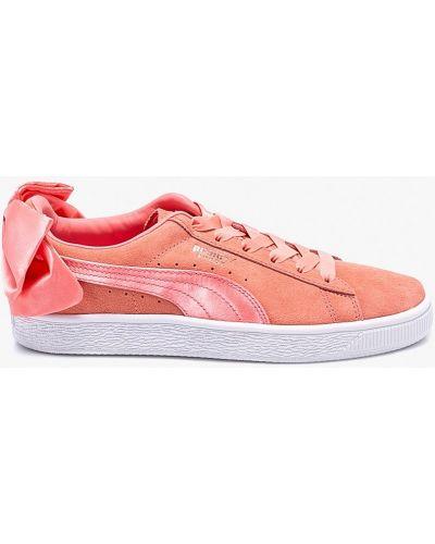 Кроссовки кожаные розовый Puma