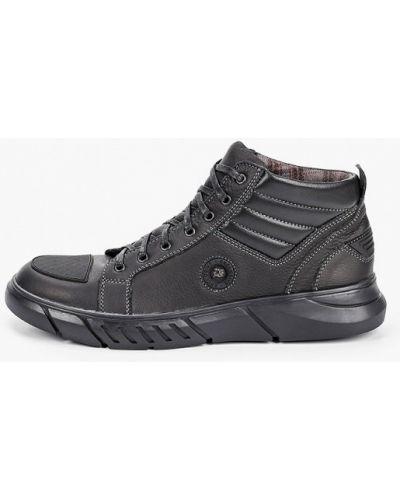 Черные кожаные ботинки Valser