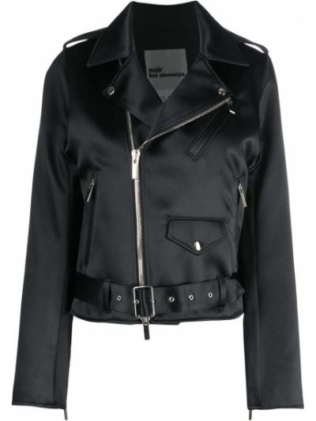 Черная куртка на кнопках байкерская с лацканами Comme Des Garçons Noir Kei Ninomiya