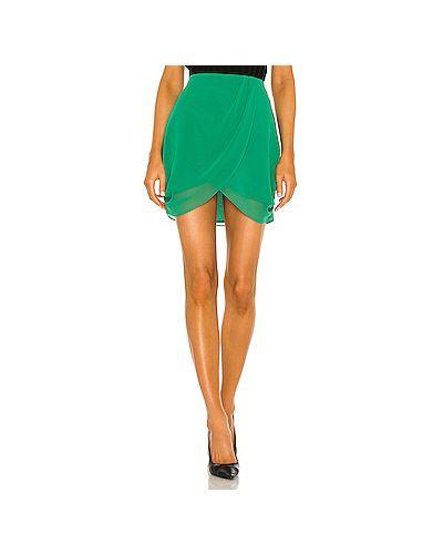 Шифоновая зеленая юбка мини на молнии с подкладкой L'academie