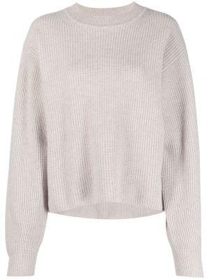 Кашемировый длинный свитер круглый с вырезом Le Kasha