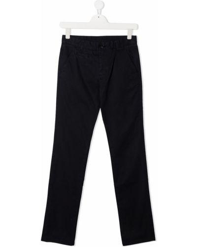 Синие прямые брюки на молнии Sun 68