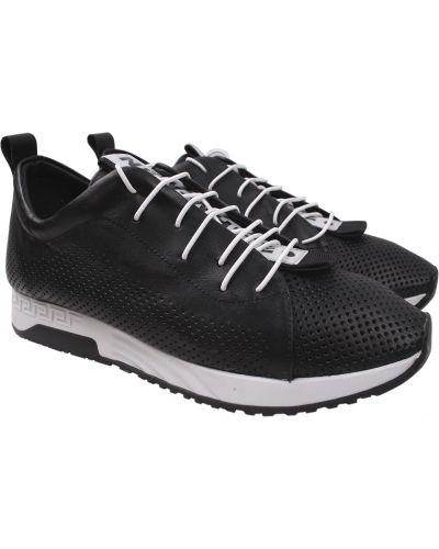 Кожаные кроссовки - черные Aquamarin