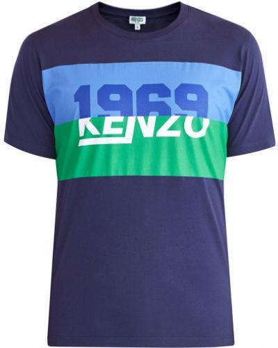 Футболка хлопковая с принтом Kenzo