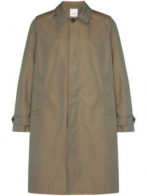 Zielony płaszcz zapinane na guziki Wood Wood