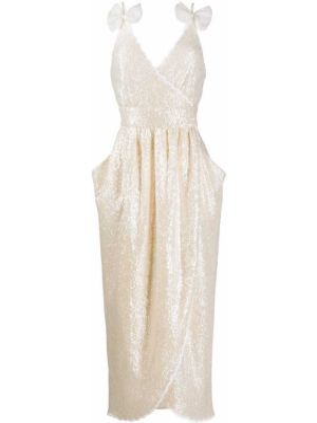 Платье миди с пайетками с запахом Philosophy Di Lorenzo Serafini