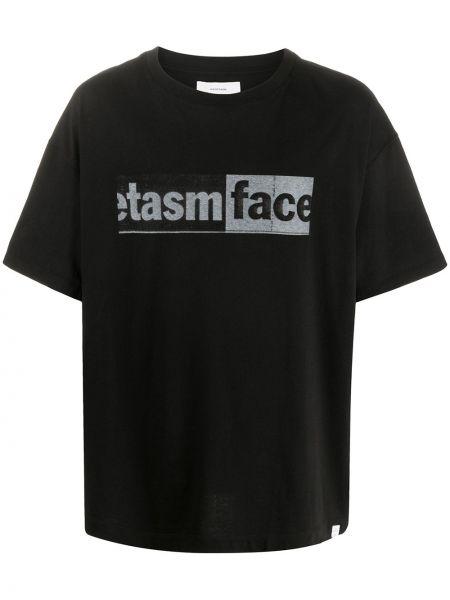 Koszula krótkie z krótkim rękawem z logo z łatami Facetasm
