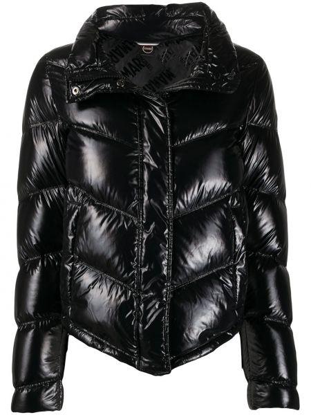 Черная куртка на молнии узкого кроя с перьями Colmar