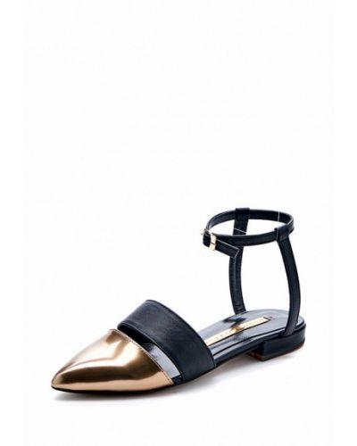 Кожаные сандалии золотого цвета Modus Vivendi