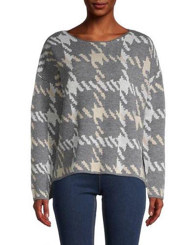 Długi sweter z akrylu z długimi rękawami z printem Central Park West