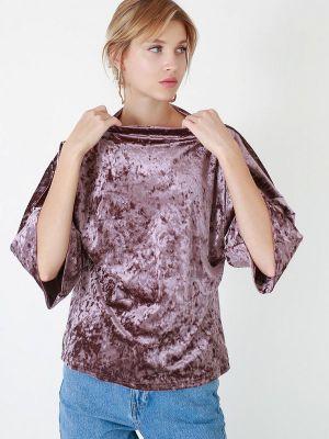 Фиолетовая зимняя блузка Lussotico