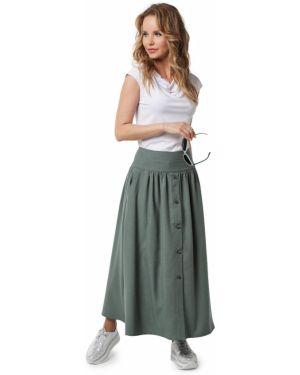 Повседневная юбка макси с поясом на пуговицах Dizzyway