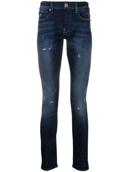 Темно-синие зауженные джинсы-скинни с карманами с вышивкой G-star Raw