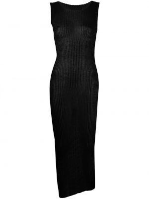 Хлопковое платье - черное Maison Margiela