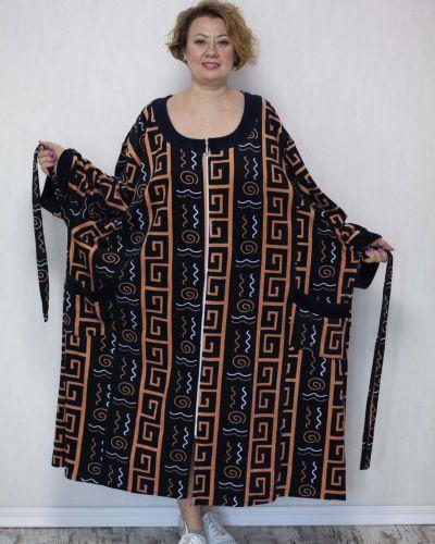 Велюровый халат - бежевый Lily