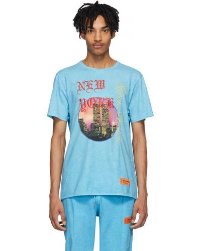 Koszula krótkie z krótkim rękawem z kołnierzem niebieski Heron Preston