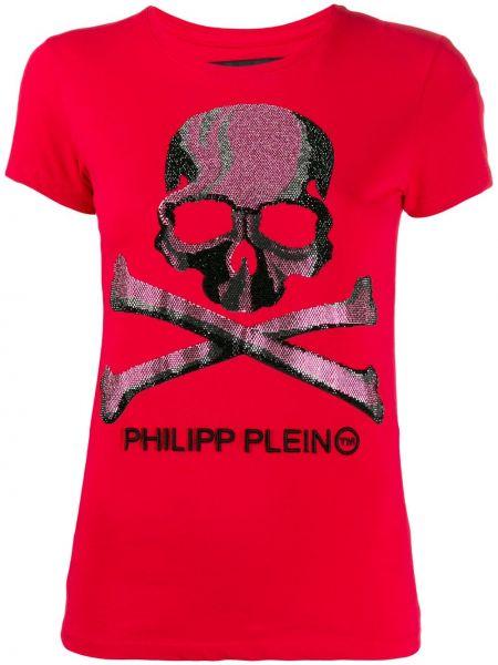 Koszula krótkie rękawy z nadrukiem z łatami Philipp Plein