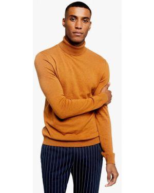Оранжевый свитер Topman