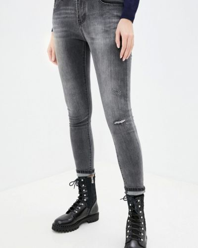 Серые джинсы-скинни узкого кроя G&g