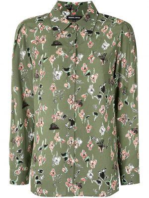 Прямая классическая рубашка с воротником на пуговицах из вискозы Markus Lupfer