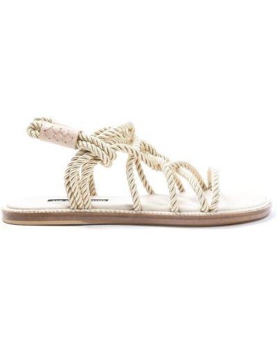 Beżowe włoskie sandały Ann Demeulemeester