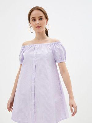 Фиолетовое платье с открытыми плечами M,a,k You Are Beautiful