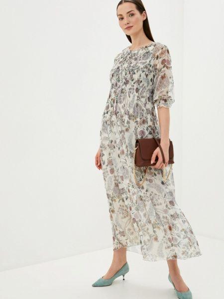 Платье серое прямое Vera Moni