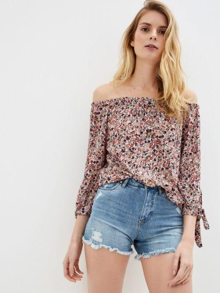 Розовая блузка с открытыми плечами Sublevel