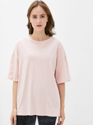 Розовая футболка с короткими рукавами D.s