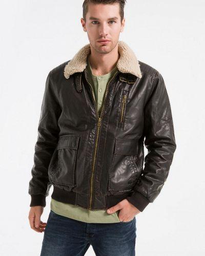 Кожаная куртка - коричневая Ltb