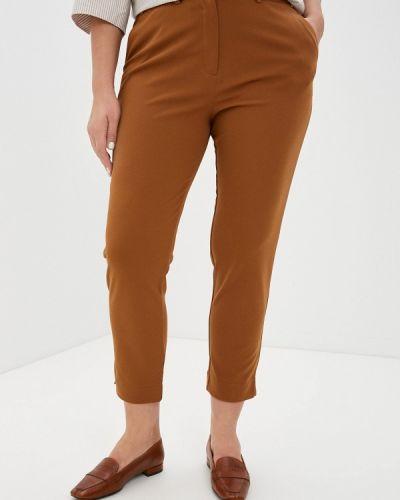Коричневые зауженные брюки Svesta