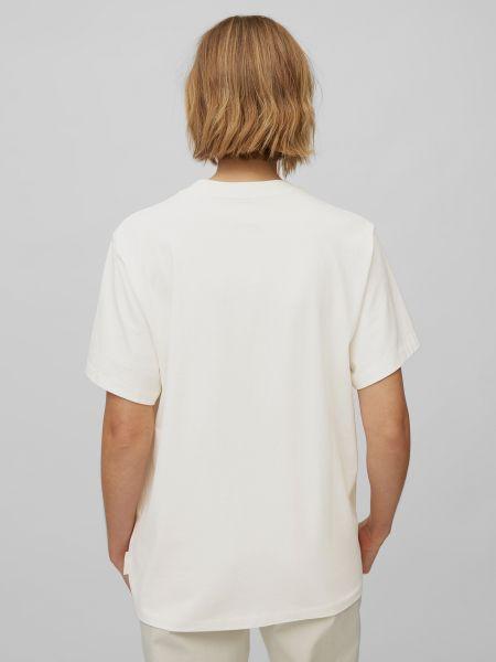Белая футболка с рисунком с вырезом Marc O'polo
