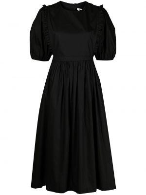 Прямое черное платье миди с вырезом Sandy Liang