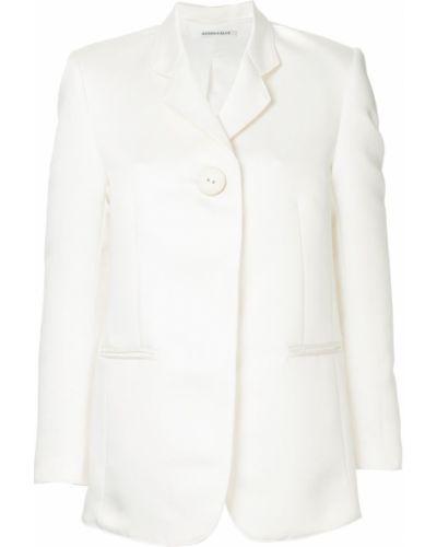 Удлиненный пиджак с карманами айвори Georgia Alice