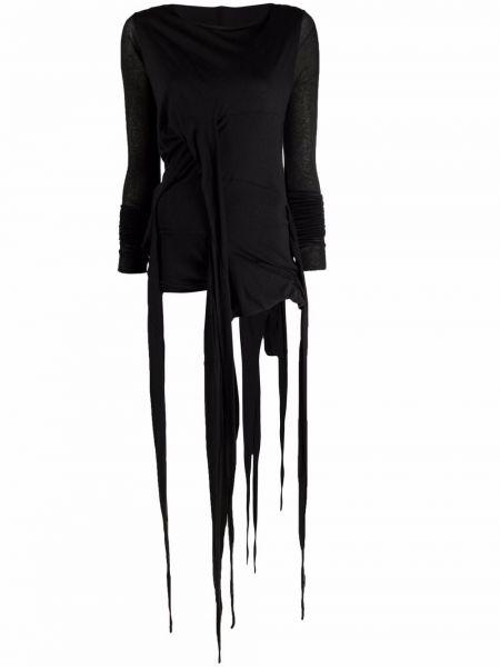 Платье макси длинное - черное Rick Owens Lilies