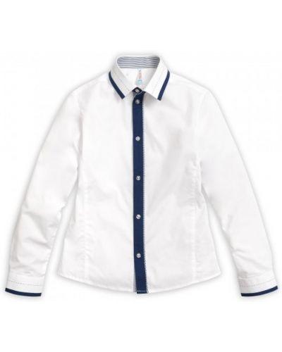 Хлопковая повседневная рубашка с длинными рукавами с воротником Pelican