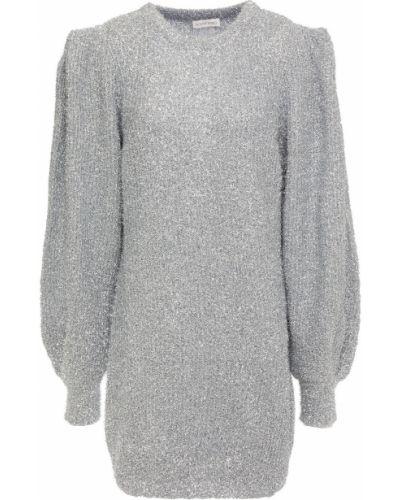 Серебряное платье мини металлическое Ronny Kobo