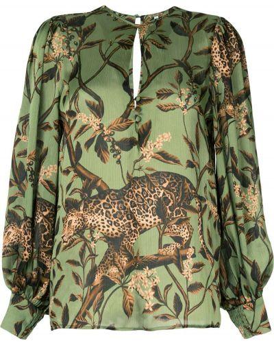 Блузка с пышными рукавами с манжетами Johanna Ortiz