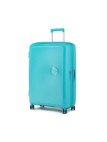 Niebieska walizka duża American Tourister