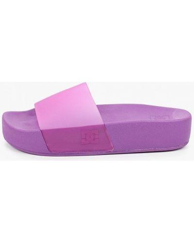 Фиолетовые резиновые шлепанцы Dc Shoes