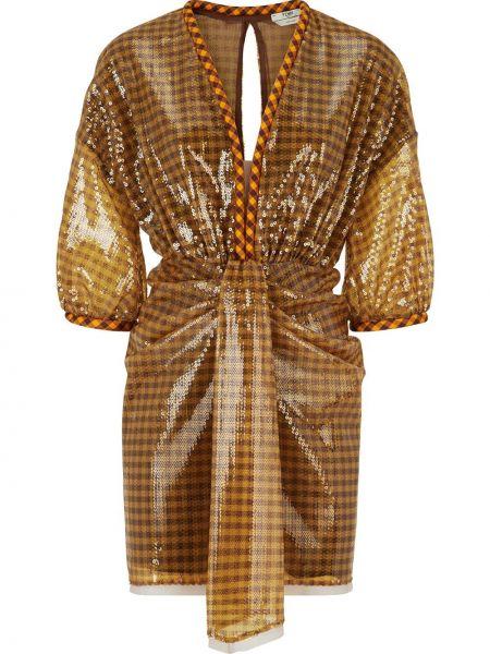 Платье с открытой спиной с пайетками Fendi