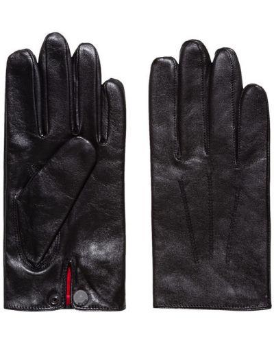 Czarne rękawiczki Hugo
