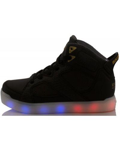 Черные кеды на шнуровке Skechers
