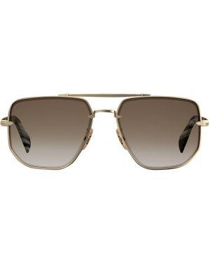 Złote okulary Db Eyewear By David Beckham