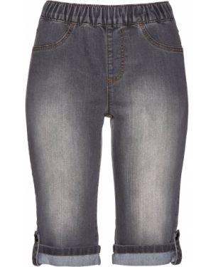 Джинсовые шорты с отворотами с карманами Bonprix