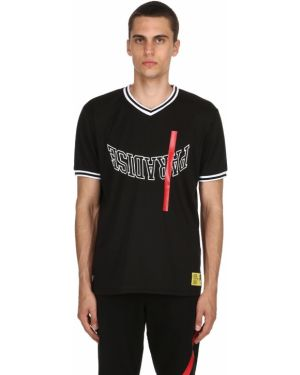 Czarna koszula krótki rękaw w paski Renowned La