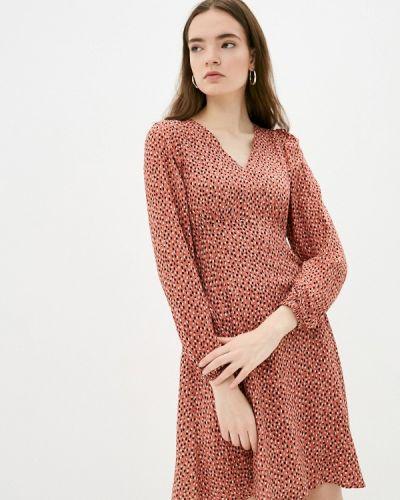 Прямое коричневое платье А-силуэта B.young