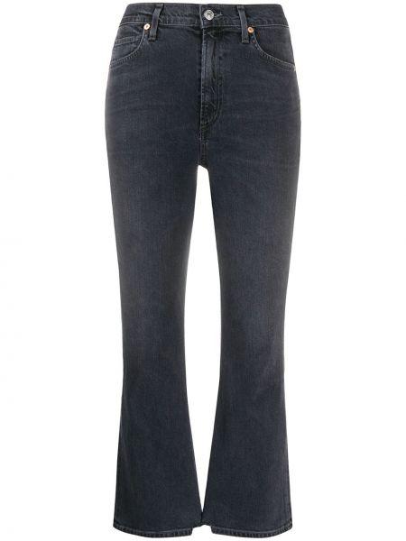 Укороченные джинсы расклешенные серые Citizens Of Humanity